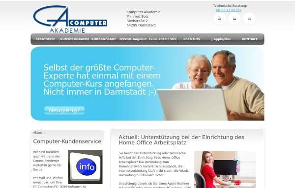 Vorschau von www.computer-akademie.com, Computer-Akademie - Computerkurse