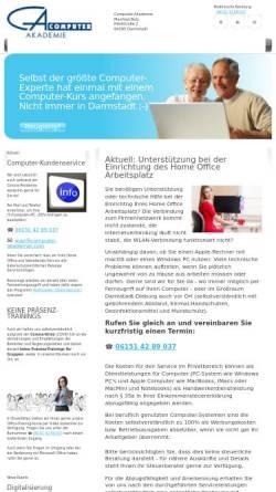 Vorschau der mobilen Webseite www.computer-akademie.com, Computer-Akademie - Computerkurse