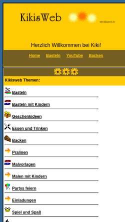 Vorschau der mobilen Webseite www.kikisweb.de, Kikisweb