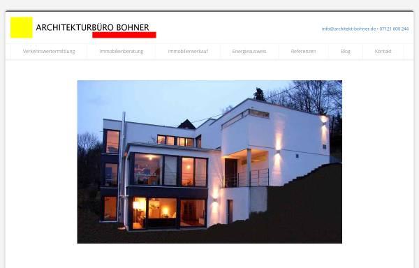 Vorschau von www.architekt-bohner.de, Bohner, Ralf