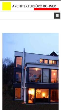 Vorschau der mobilen Webseite www.architekt-bohner.de, Bohner, Ralf