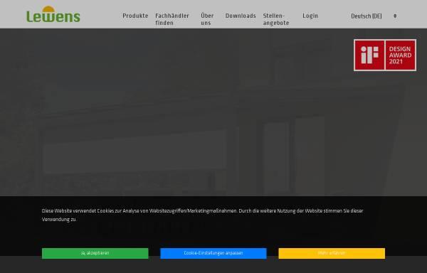 Vorschau von www.lewens-markisen.de, Lewens Sonnenschutz Systeme GmbH & Co. KG