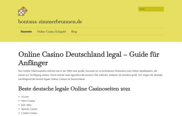 Vorschau von www.bontana-zimmerbrunnen.de, Marcedo Shopservice GmbH und Co. KG