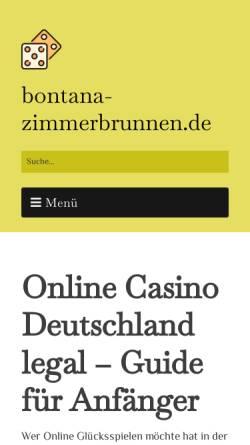 Vorschau der mobilen Webseite www.bontana-zimmerbrunnen.de, Marcedo Shopservice GmbH und Co. KG