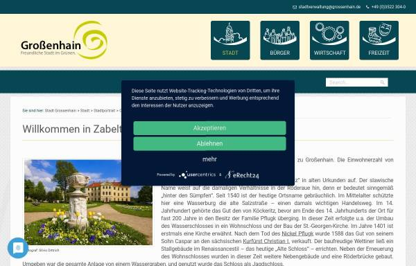 Vorschau von www.zabeltitz.de, Zabeltitz