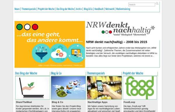 Vorschau von www.nrw-denkt-nachhaltig.de, NRW denkt nach(haltig)