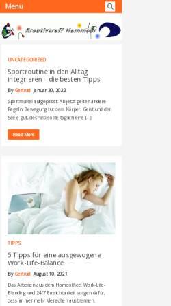 Vorschau der mobilen Webseite www.kreativtreff-hemmoor.de, Kreativtreff Hemmoor