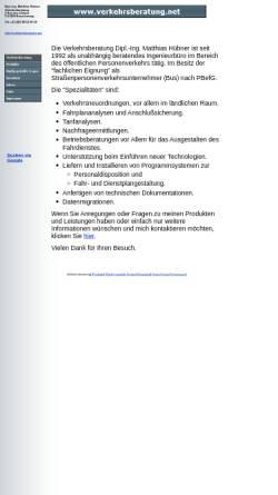 Vorschau der mobilen Webseite www.verkehrsberatung.net, Hübner, Matthias