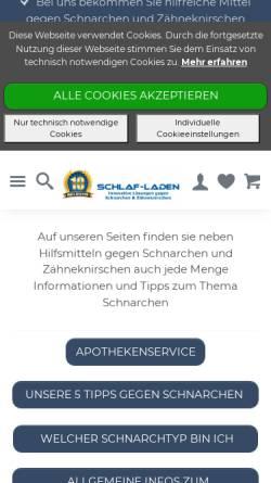 Vorschau der mobilen Webseite www.schlaf-laden.de, Schlaf-Laden, Michael Schäfer