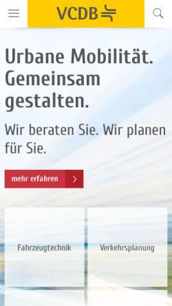 Vorschau der mobilen Webseite www.vcdb.de, VCDB VerkehrsConsult Dresden-Berlin GmbH