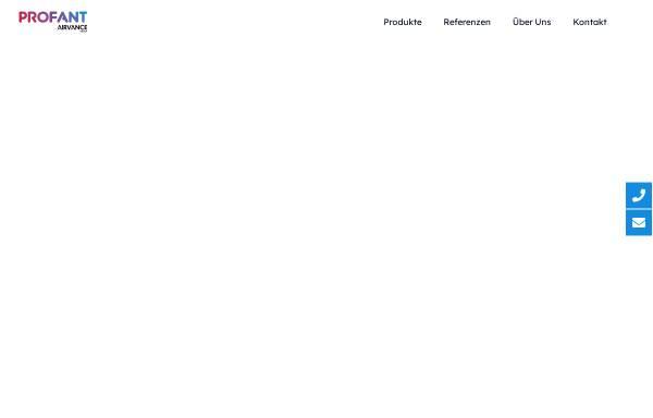 Vorschau von www.profant.at, Profant Lufttechnik GmbH