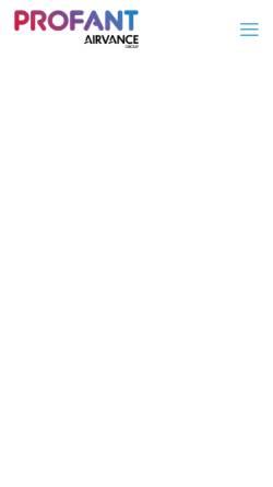 Vorschau der mobilen Webseite www.profant.at, Profant Lufttechnik GmbH