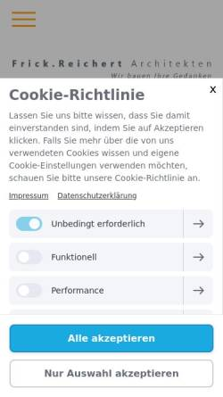 Vorschau der mobilen Webseite www.frick-reichert.de, Frick, Uwe; Reichert, Wolfgang