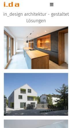Vorschau der mobilen Webseite indesign-architekten.de, In_design - Dipl. Ing. (FH) Christine Weinmann Innenarchitektin AKH BDIA Dipl. Ing. (FH) Tim Driedger Architekt AKH
