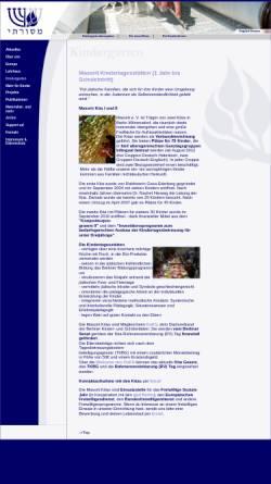 Vorschau der mobilen Webseite www.masorti.de, Masorti Kindergarten