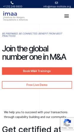 Vorschau der mobilen Webseite imaa-institute.org, Institut für Fusionen, Akquisitionen und Allianzen (IMAA)