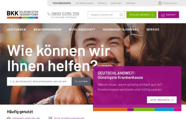 Vorschau von www.bkkgilsei.de, BKK Gildemeister/Seidensticker