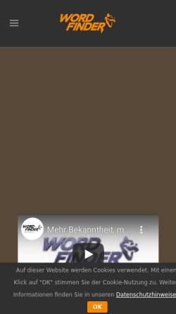 Vorschau der mobilen Webseite www.wordfinderpr.com, Wortfinder PR - Michael Makowski