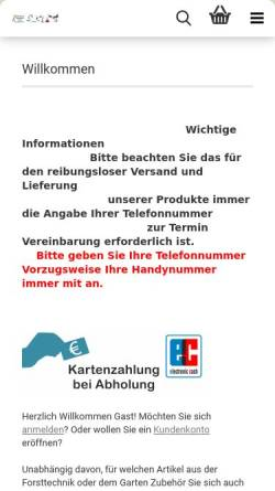 Vorschau der mobilen Webseite www.wald-garten-maschinen.de, Wald-Garten-Maschinen.de, Lilia Ivorra