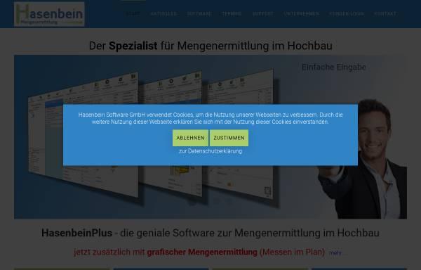 Vorschau von www.hasenbein.de, Hasenbein Software GmbH