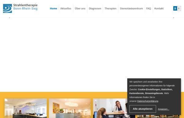Vorschau von www.strahlentherapie-bonn-rhein-sieg.de, Strahlentherapie Bonn-Rhein-Sieg