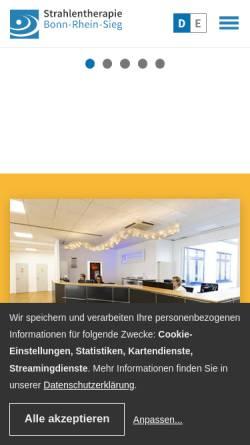 Vorschau der mobilen Webseite www.strahlentherapie-bonn-rhein-sieg.de, Strahlentherapie Bonn-Rhein-Sieg