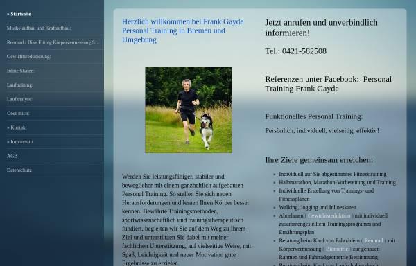 Vorschau von www.gayde-personaltraining.de, Gayde Personaltraining