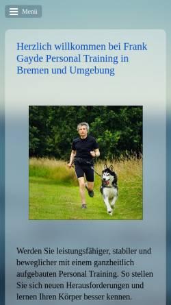 Vorschau der mobilen Webseite www.gayde-personaltraining.de, Gayde Personaltraining