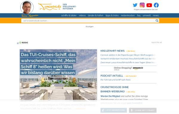 Vorschau von www.cruisetricks.de, Cruisetricks.de
