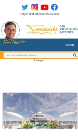 Vorschau der mobilen Webseite www.cruisetricks.de, Cruisetricks.de
