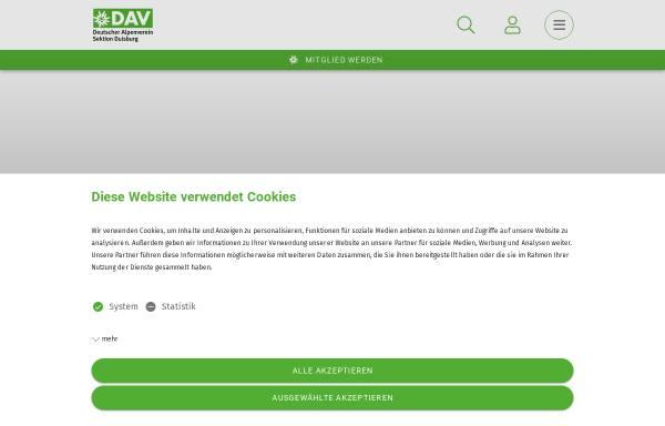 Vorschau von www.dav-duisburg.de, Alpenverein Duisburg