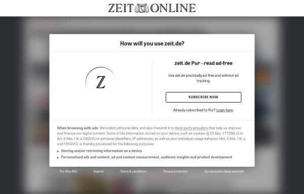 Vorschau von www.zeit.de, Eine Sonate im Ausnahmezustand