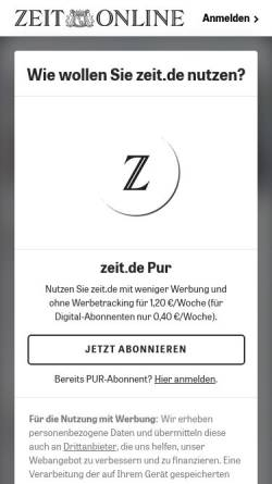 Vorschau der mobilen Webseite www.zeit.de, Eine Sonate im Ausnahmezustand