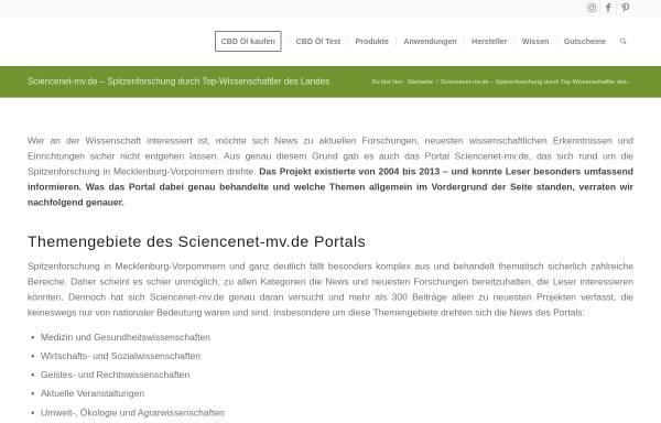 Vorschau von www.sciencenet-mv.de, ScienceNet-mv