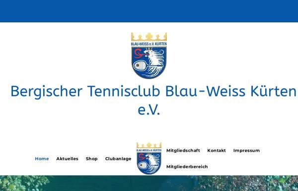 Vorschau von www.btc-kuerten.de, Bergischer Tennisclub Blau-Weiß Kürten
