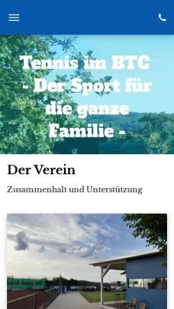 Vorschau der mobilen Webseite www.btc-kuerten.de, Bergischer Tennisclub Blau-Weiß Kürten