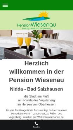 Vorschau der mobilen Webseite wiesenau.info, Kurpension Wiesenau