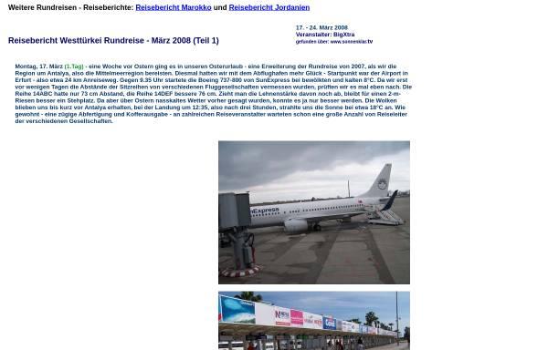 Vorschau von www.mauersberger-haarhausen.de, Rundreise Türkei 2008 [Susanne & Andreas Mauersberger]
