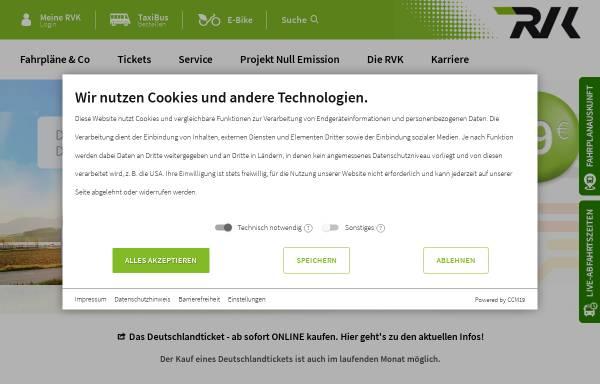 Vorschau von www.rvk.de, Regionalverkehr Köln GmbH (RVK)
