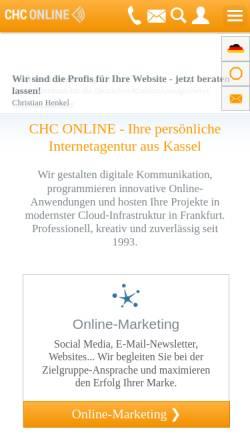 Vorschau der mobilen Webseite www.chc-online.de, CHC IT-Solutions
