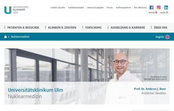 Vorschau von www.uniklinik-ulm.de, Klinik für Nuklearmedizin der Universität Ulm