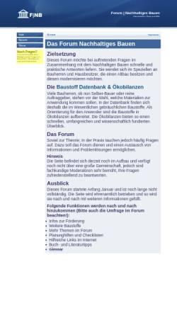 Vorschau der mobilen Webseite www.nachhaltiges-bauen.de, Forum Nachhaltiges Bauen