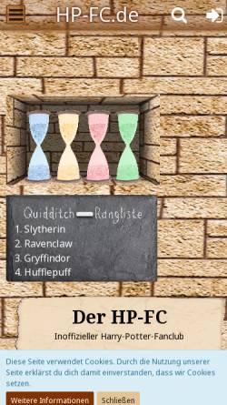 Vorschau der mobilen Webseite www.hp-fc.de, HP-FC - Der Harry-Potter-Fanclub