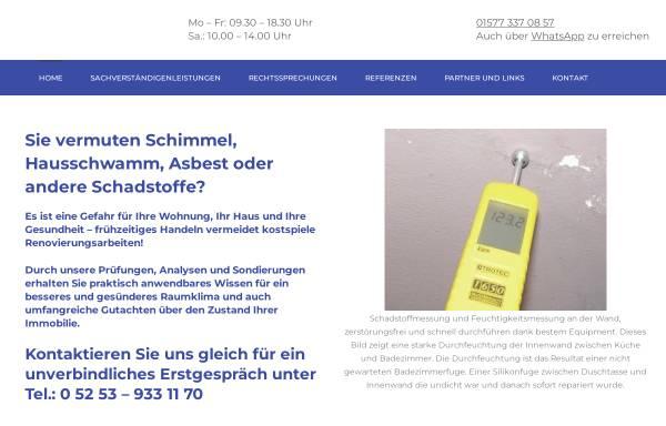 Vorschau von www.schadstofffrei.de, Müller & Partner - Sachverständigen- und Ingenieurbüro