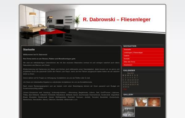 Vorschau von www.rdabrowski.de, R. Dabrowski, Fliesenleger