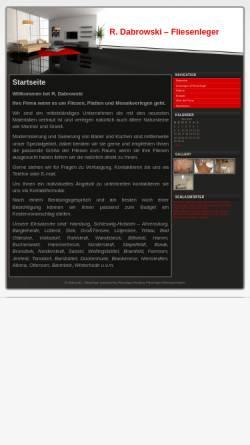 Vorschau der mobilen Webseite www.rdabrowski.de, R. Dabrowski, Fliesenleger
