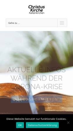 Vorschau der mobilen Webseite www.efg-kaltenkirchen.de, Christuskirche Kaltenkirchen