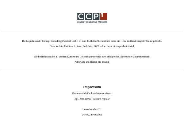 Vorschau von www.ccp1.eu, CCP GmbH