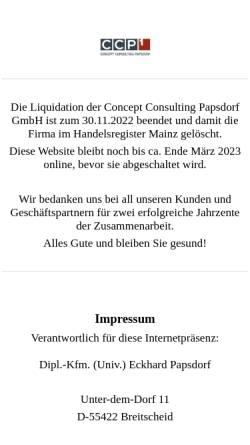 Vorschau der mobilen Webseite www.ccp1.eu, CCP GmbH