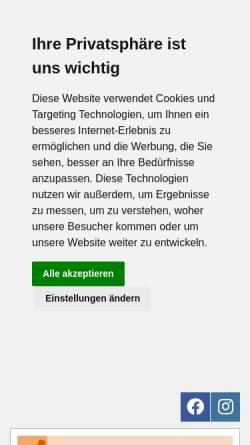 Vorschau der mobilen Webseite www.vip-reisen.de, Reisebüro Fella